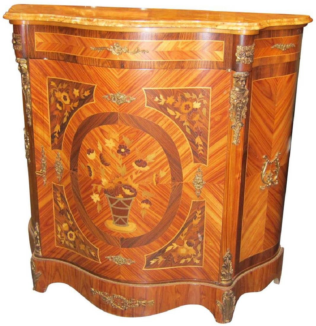 Louis XV-style inlaid console