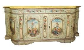 Vintage Venetian-style sideboard