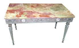 Antique bronze onyx-top coffee table