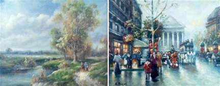 Lot of 2 paintings