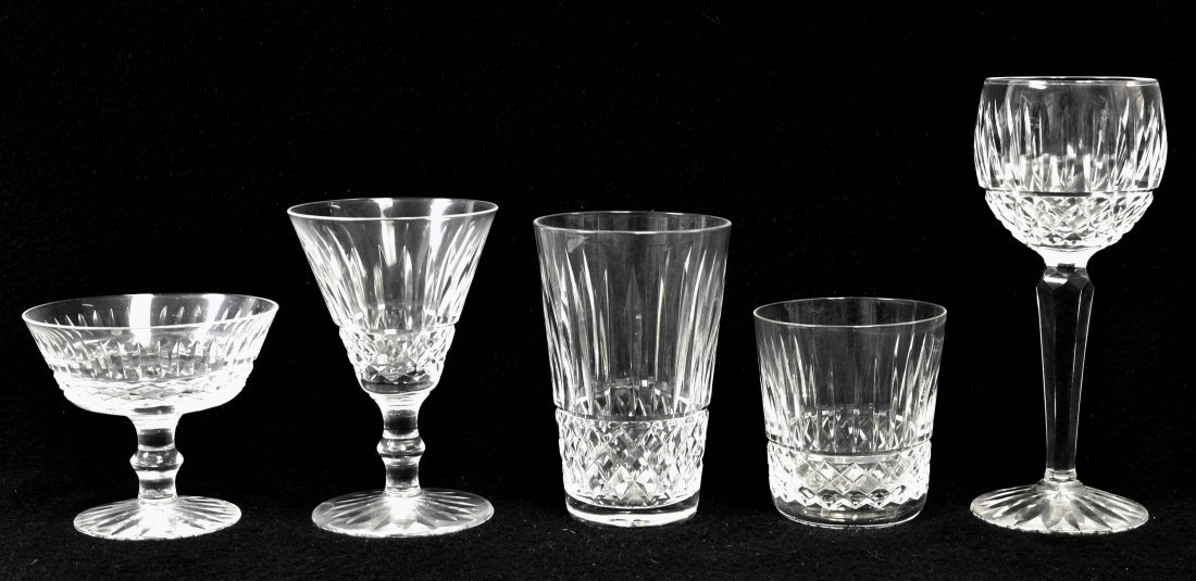 79 pieces of Waterford crystal glassware