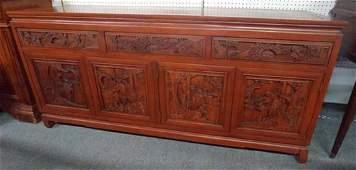 Vintage Chinese rosewood sideboard