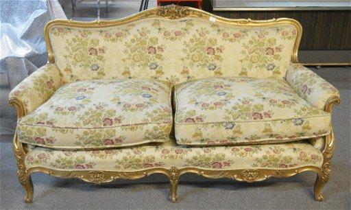 Vintage Italian Louis XV-style sofa