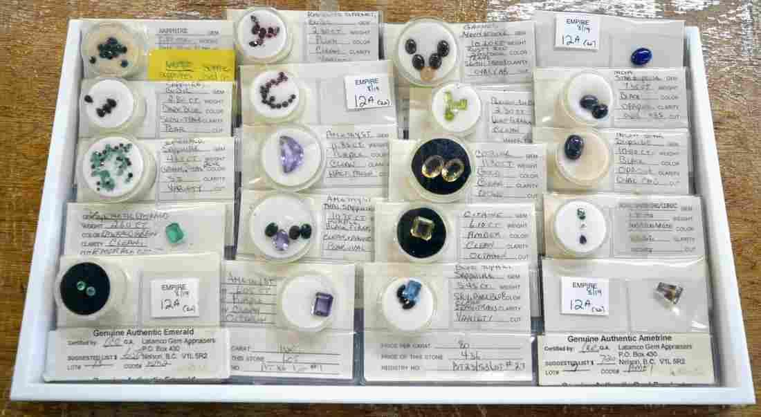 20 packages of loose gemstones