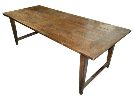 Rustic Solid Oak Rectangular Dining Table
