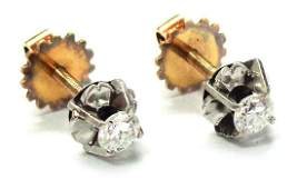 18 kt gold and platinum earrings