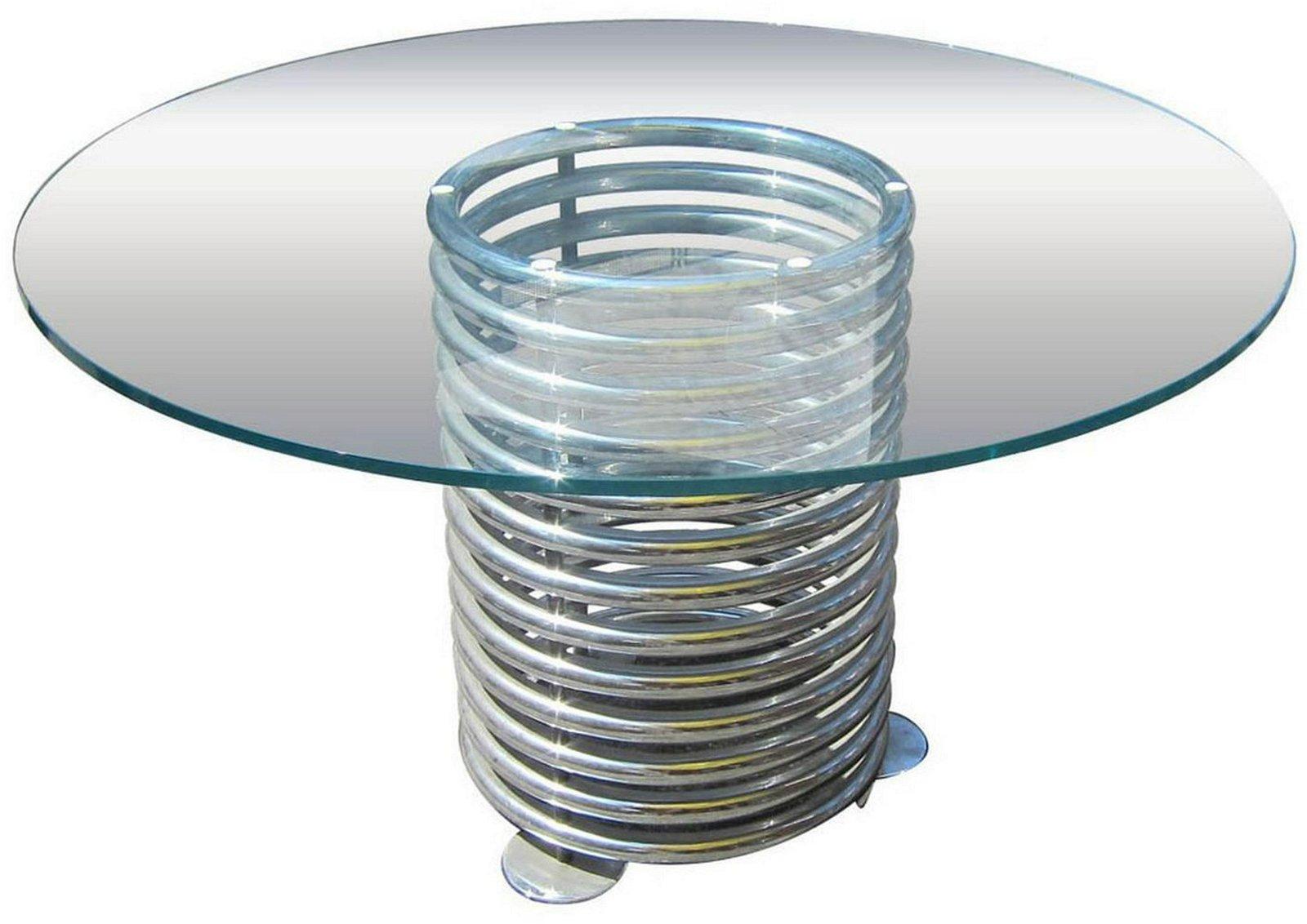 Italian designer glass-top table