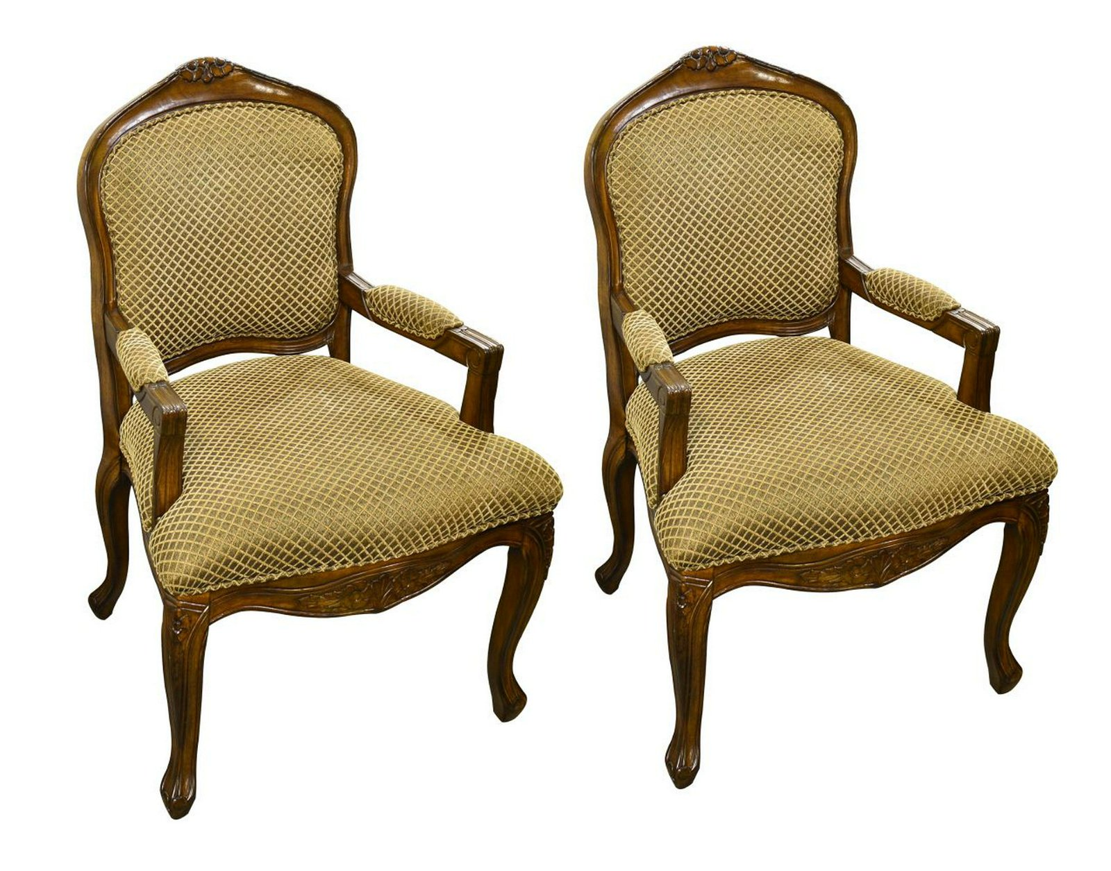 Pair of Louis XV-style armchairs