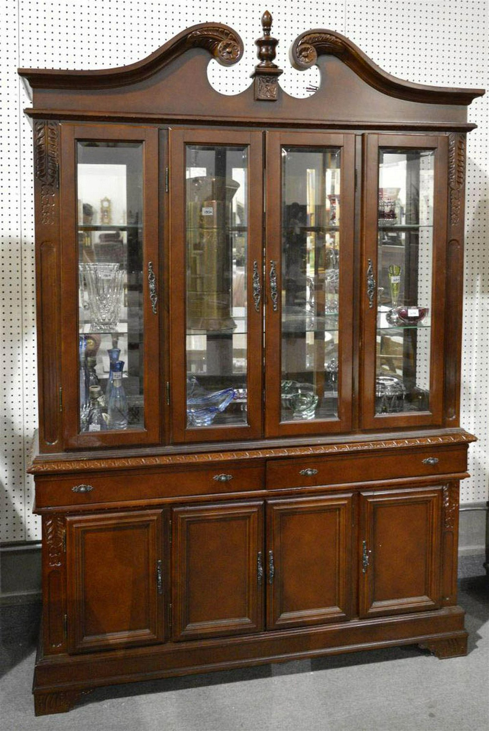 2-part china cabinet