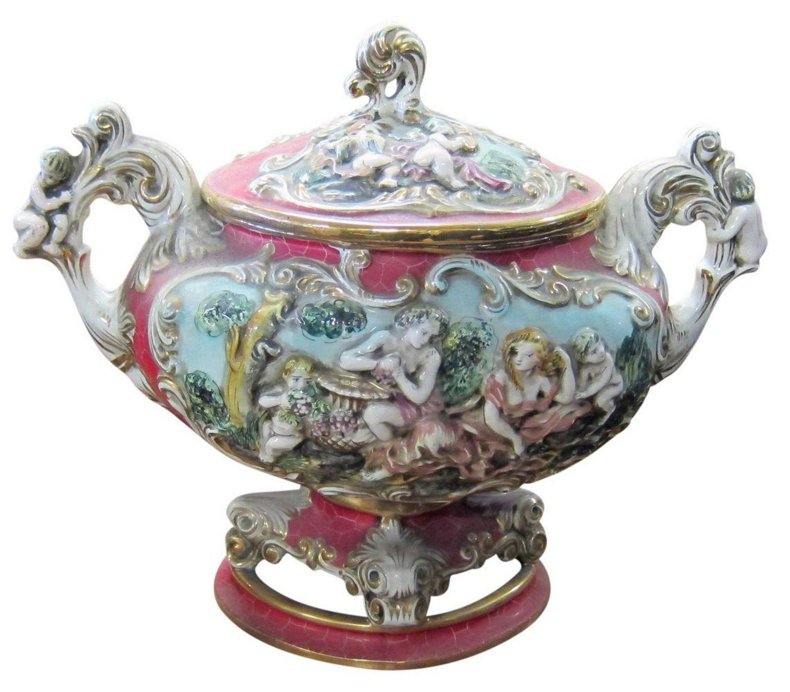 Capodimonte ceramic tureen
