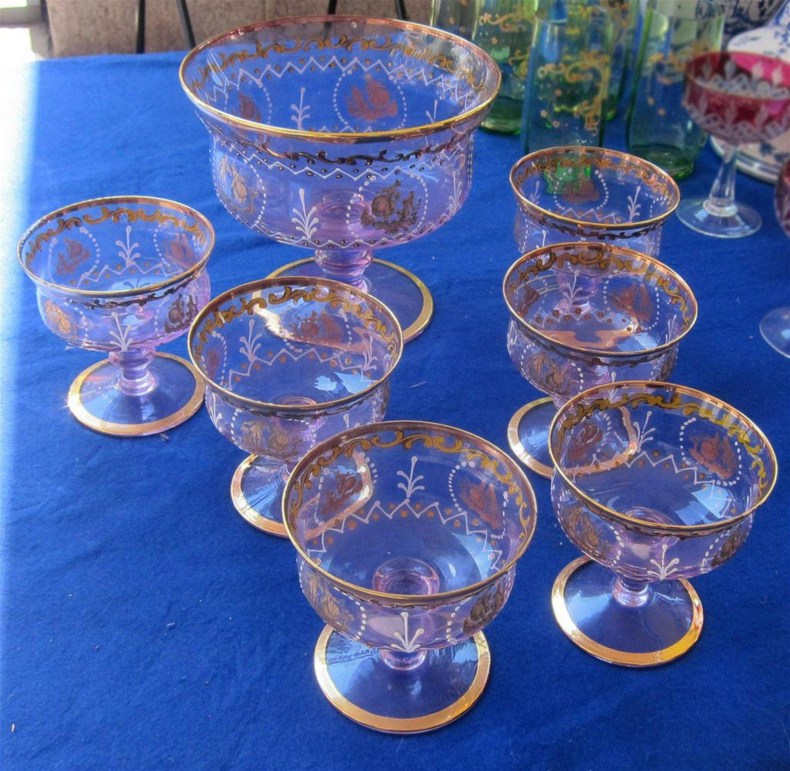 Italian 7-piece glass service