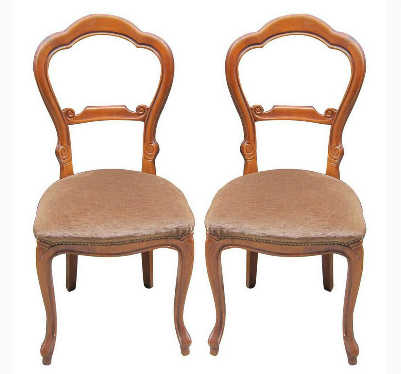 Pair of balloon-back chairs