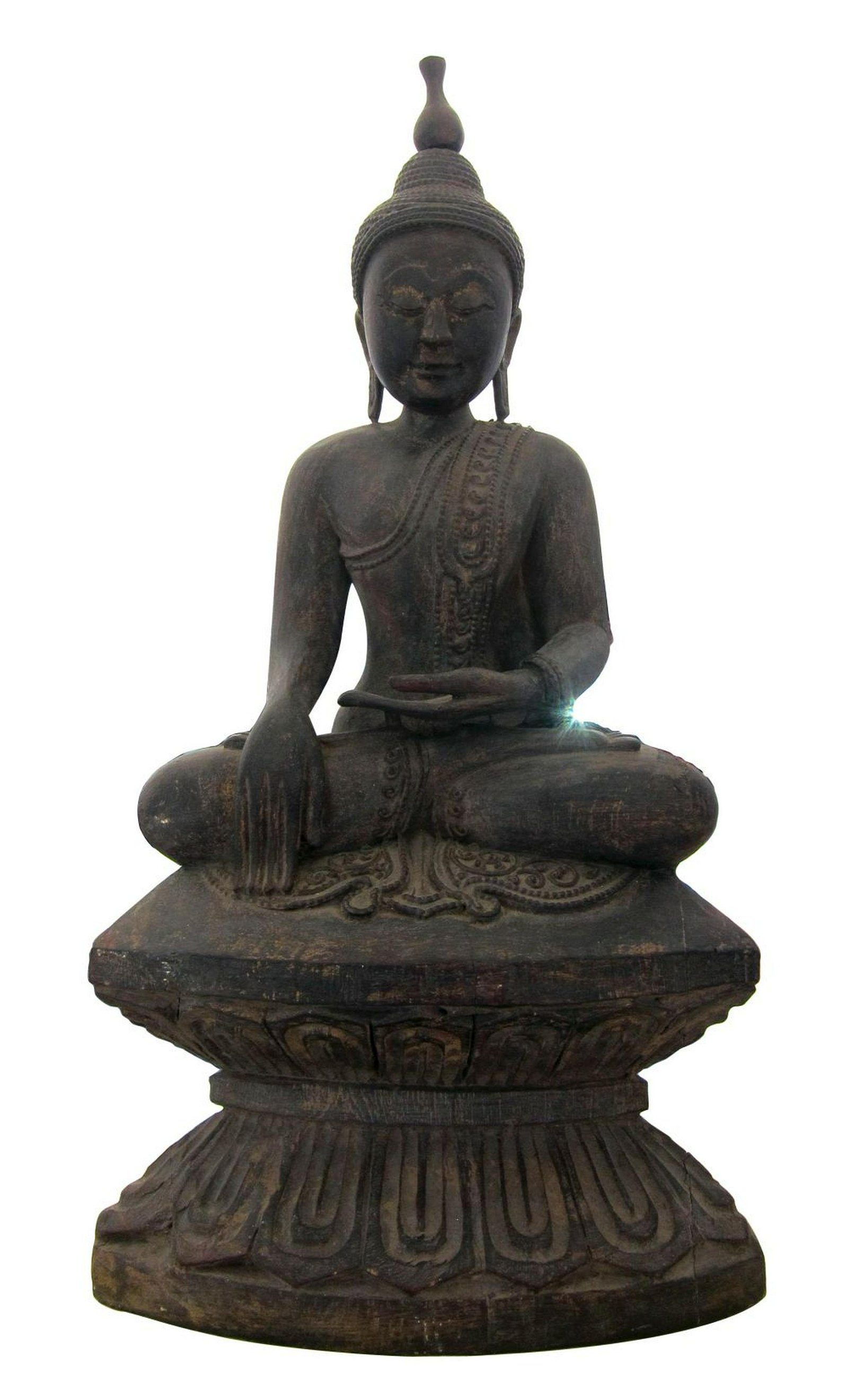 Antique Chinese carved wood figure