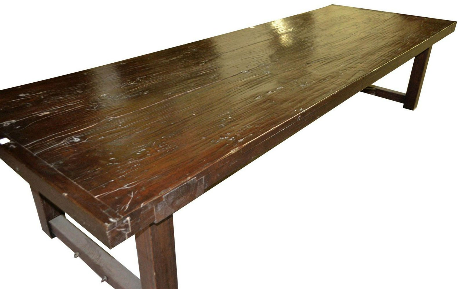 European solid oak dining table