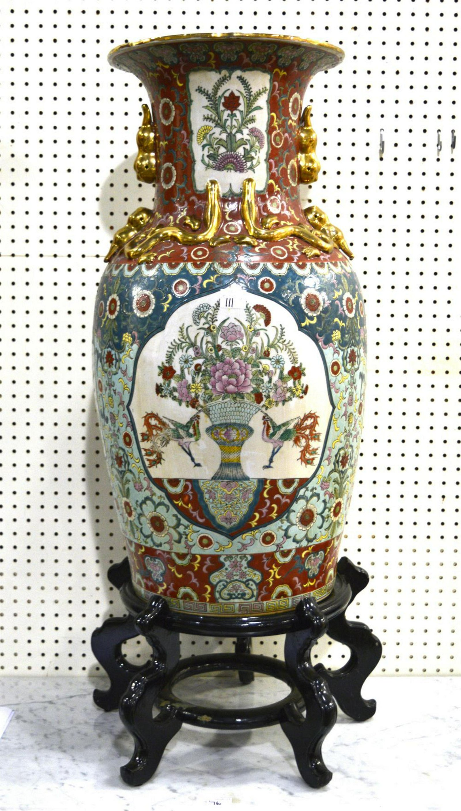 Chinese porcelain urn-form vase