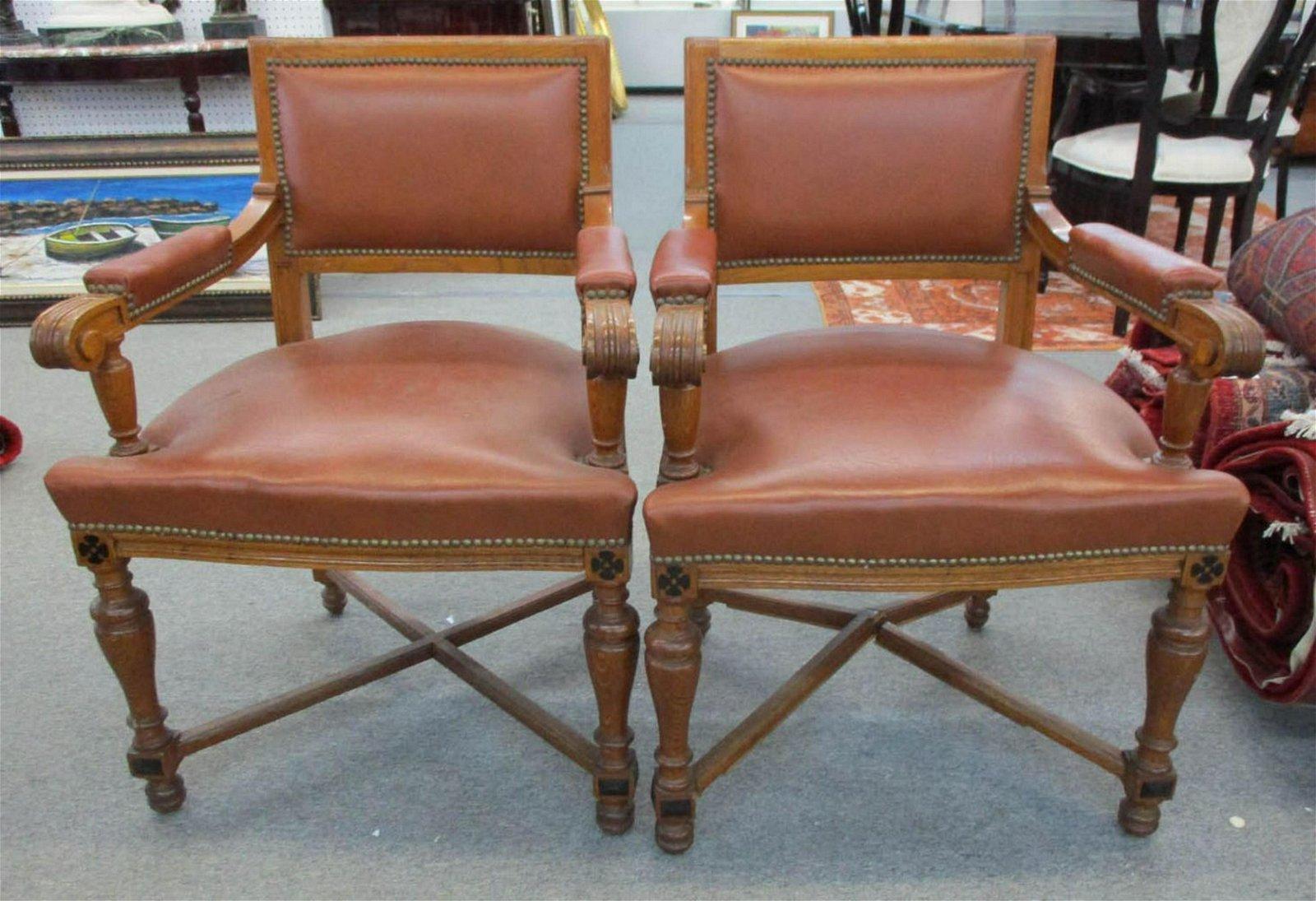 Pair of vintage European armchairs