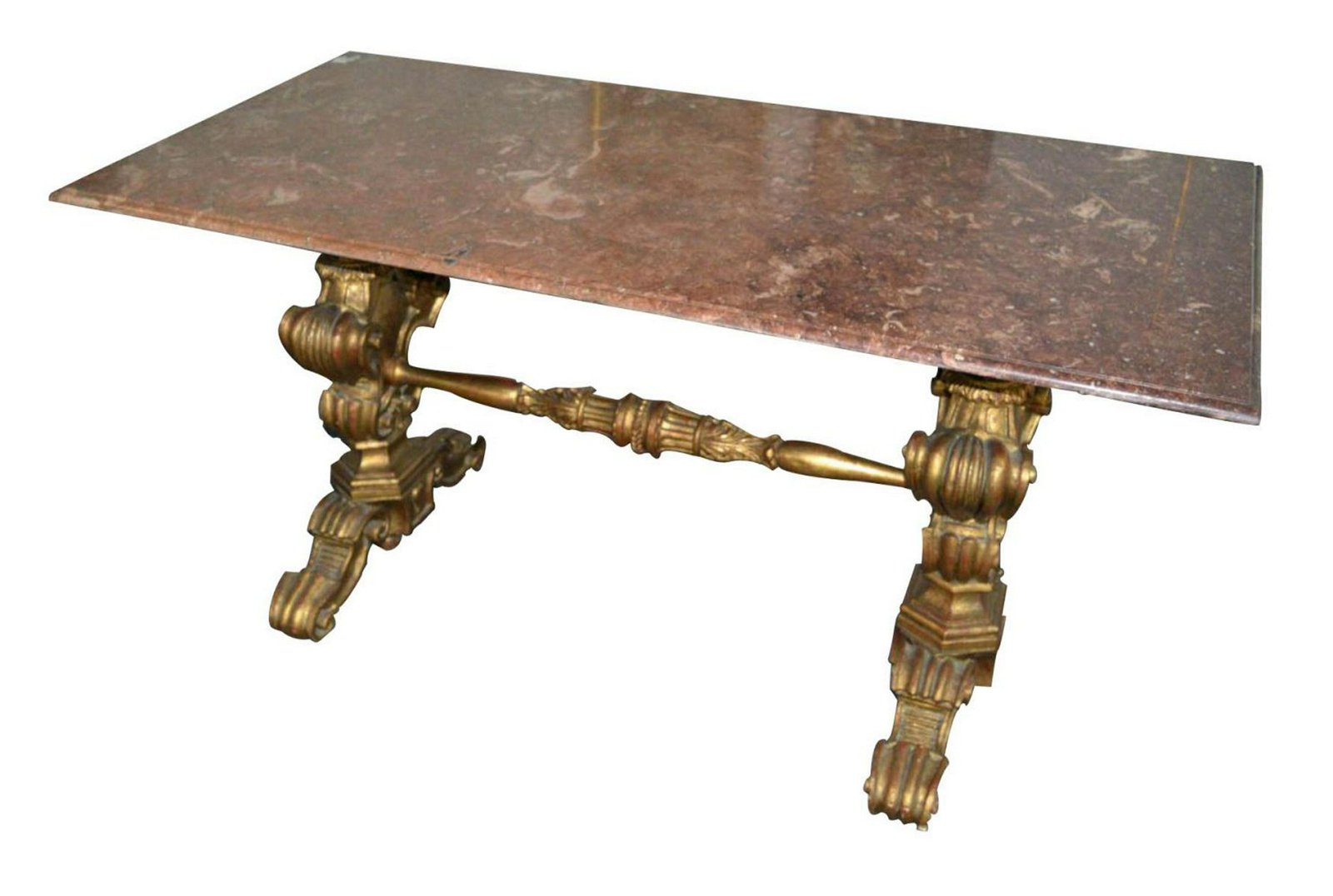 Carved giltwood salon table