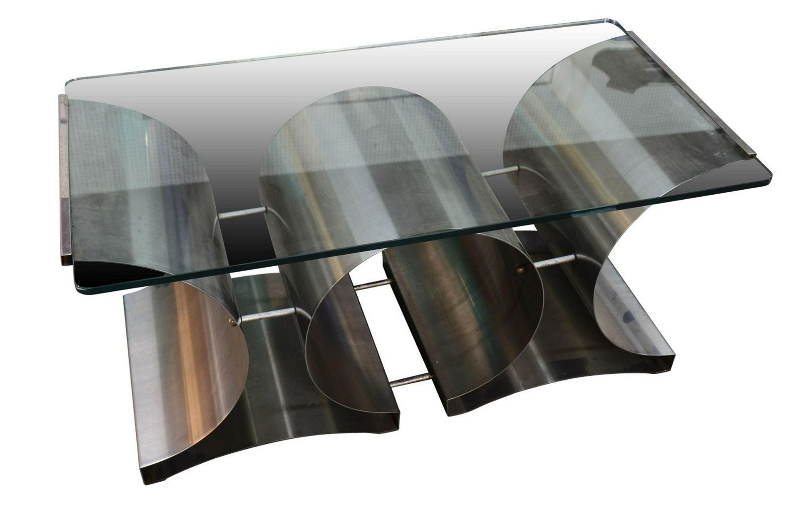 Contemporary style glass coffee table