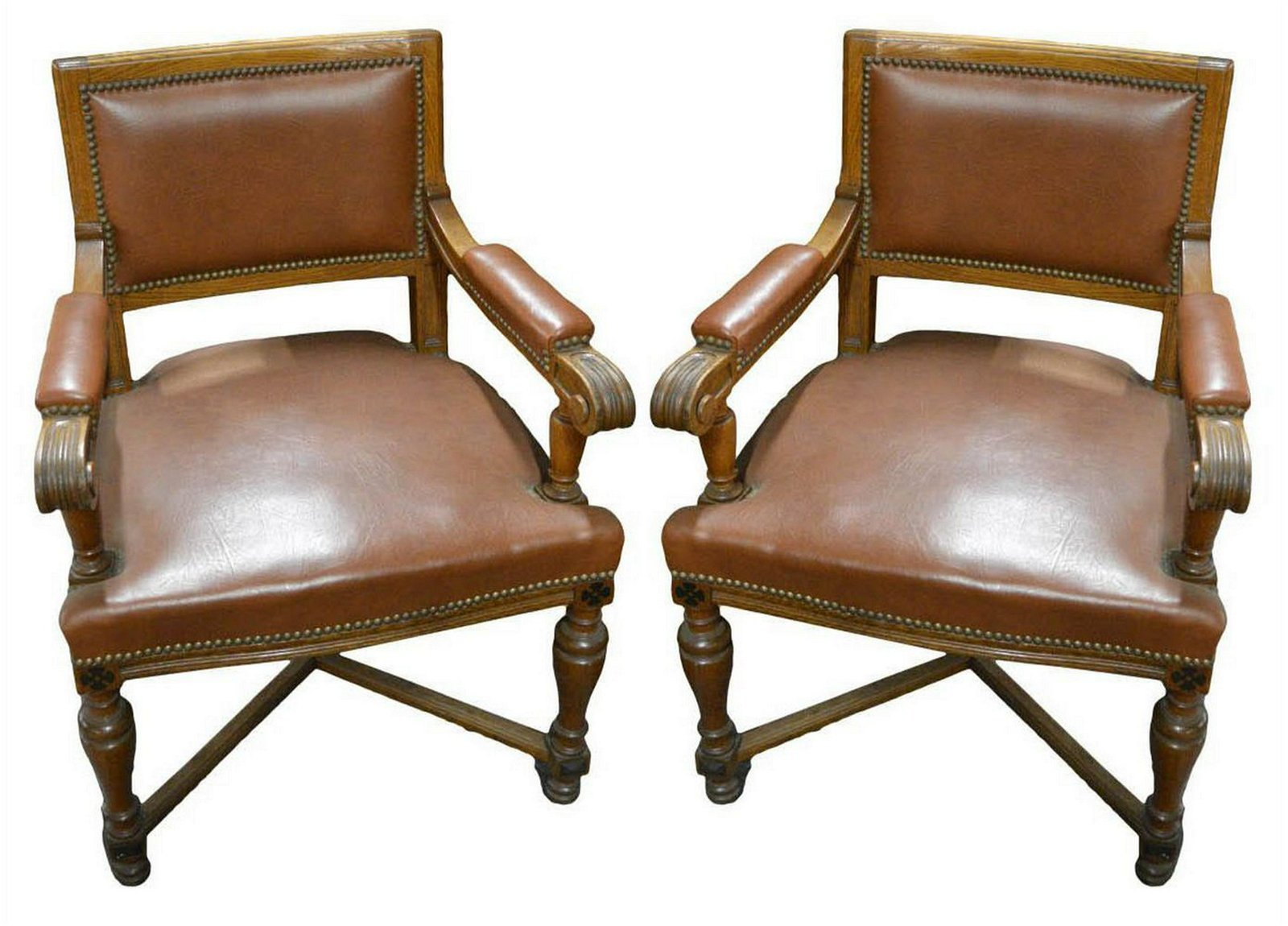 Pair of Cromwellian-style occasional chairs