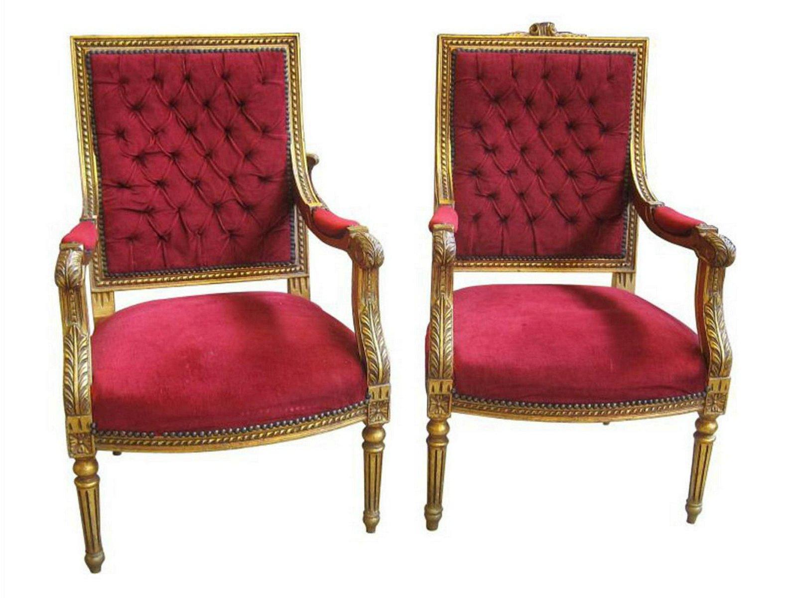 Pair of Louis XVI-style armchairs
