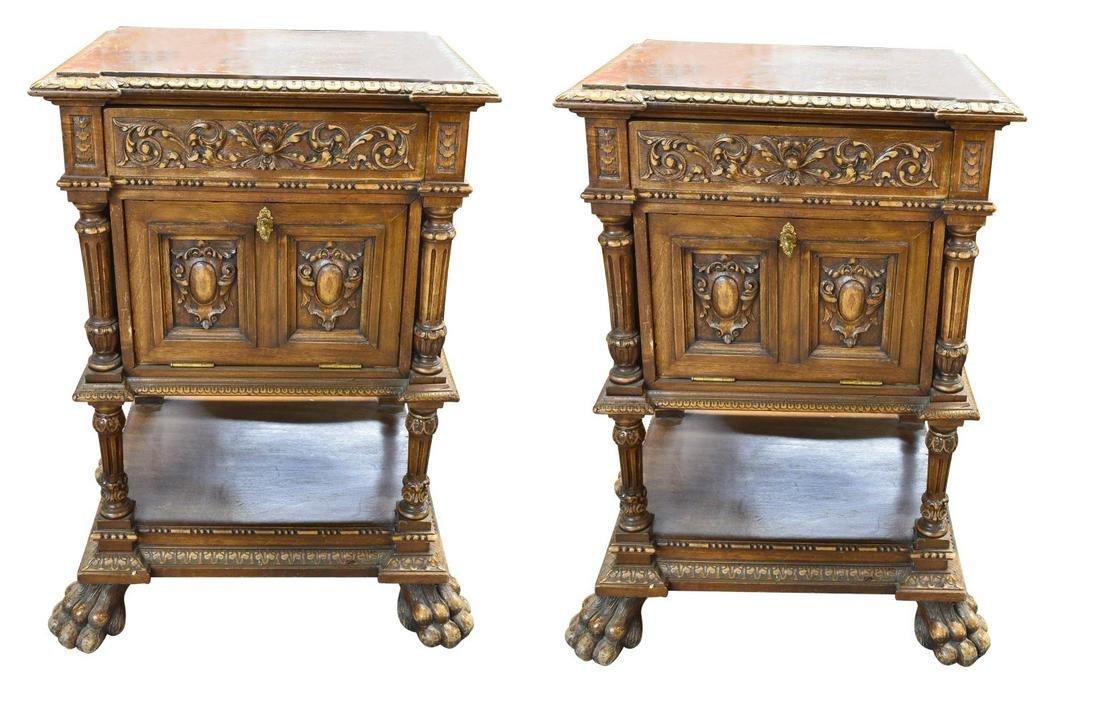 Pair of antique Italia side tables
