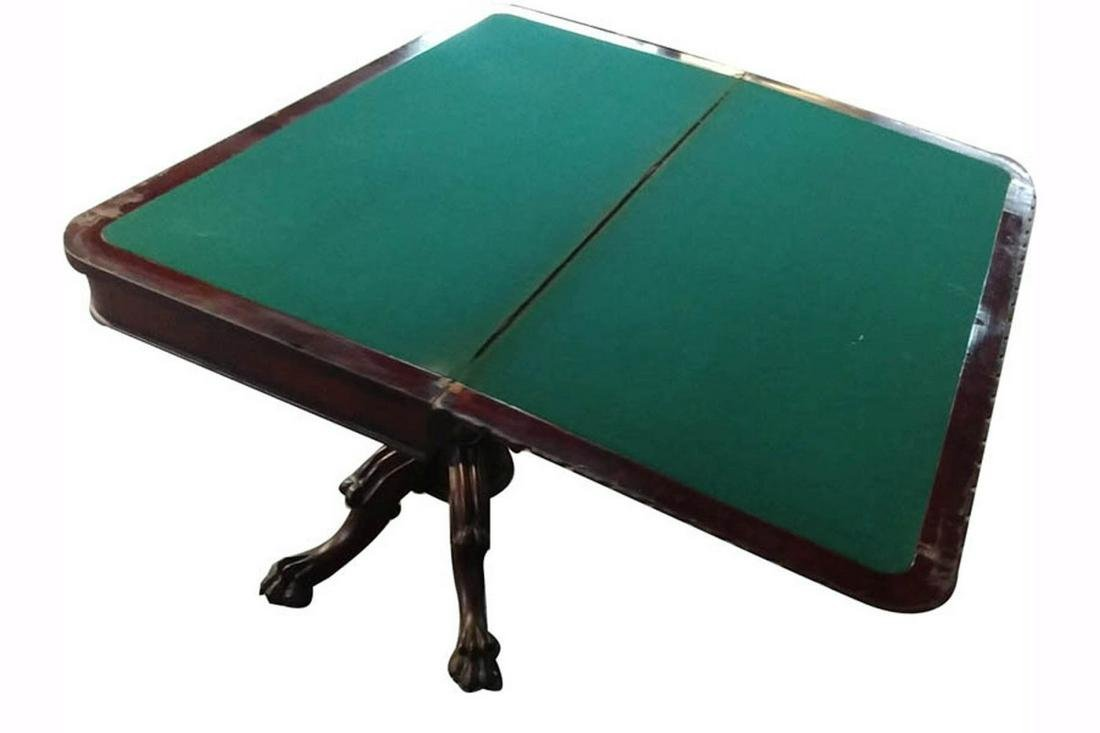 Antique folding games table