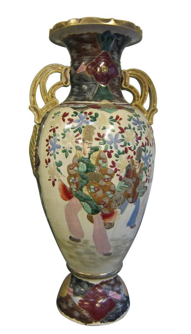 Antique Satsuma pottery vase