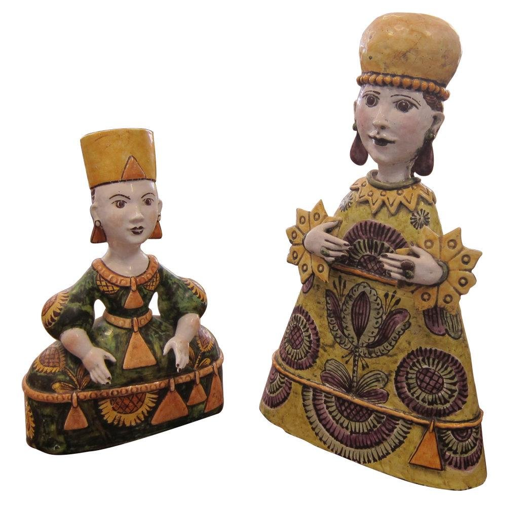 Two Russian ceramic figures