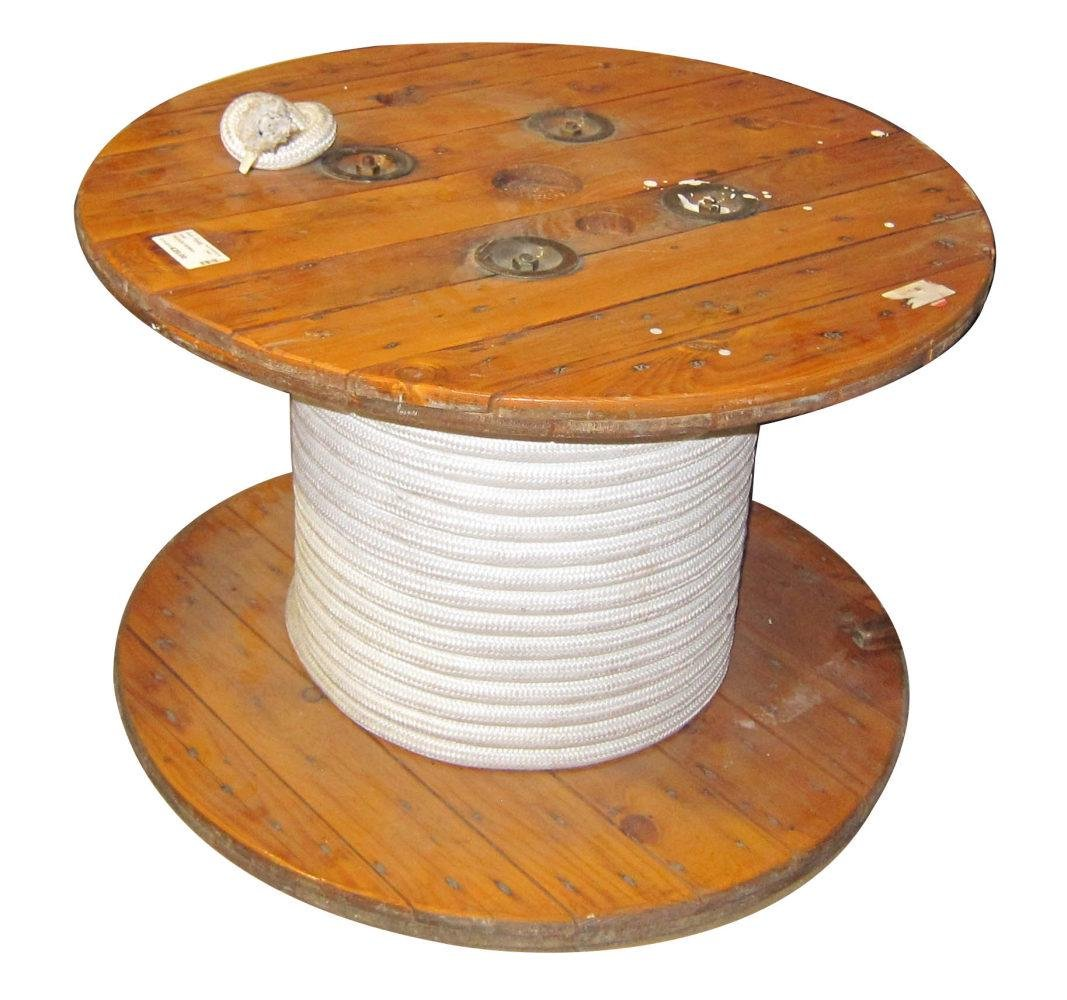 "Antique industrial-style ""spool"" table"
