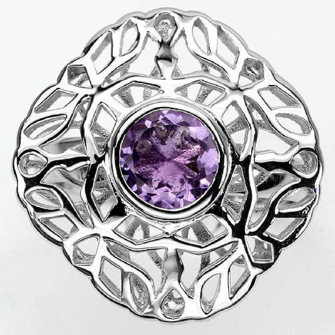 925 Sterling silver Amethyst Ring Size N.5 (US 7)
