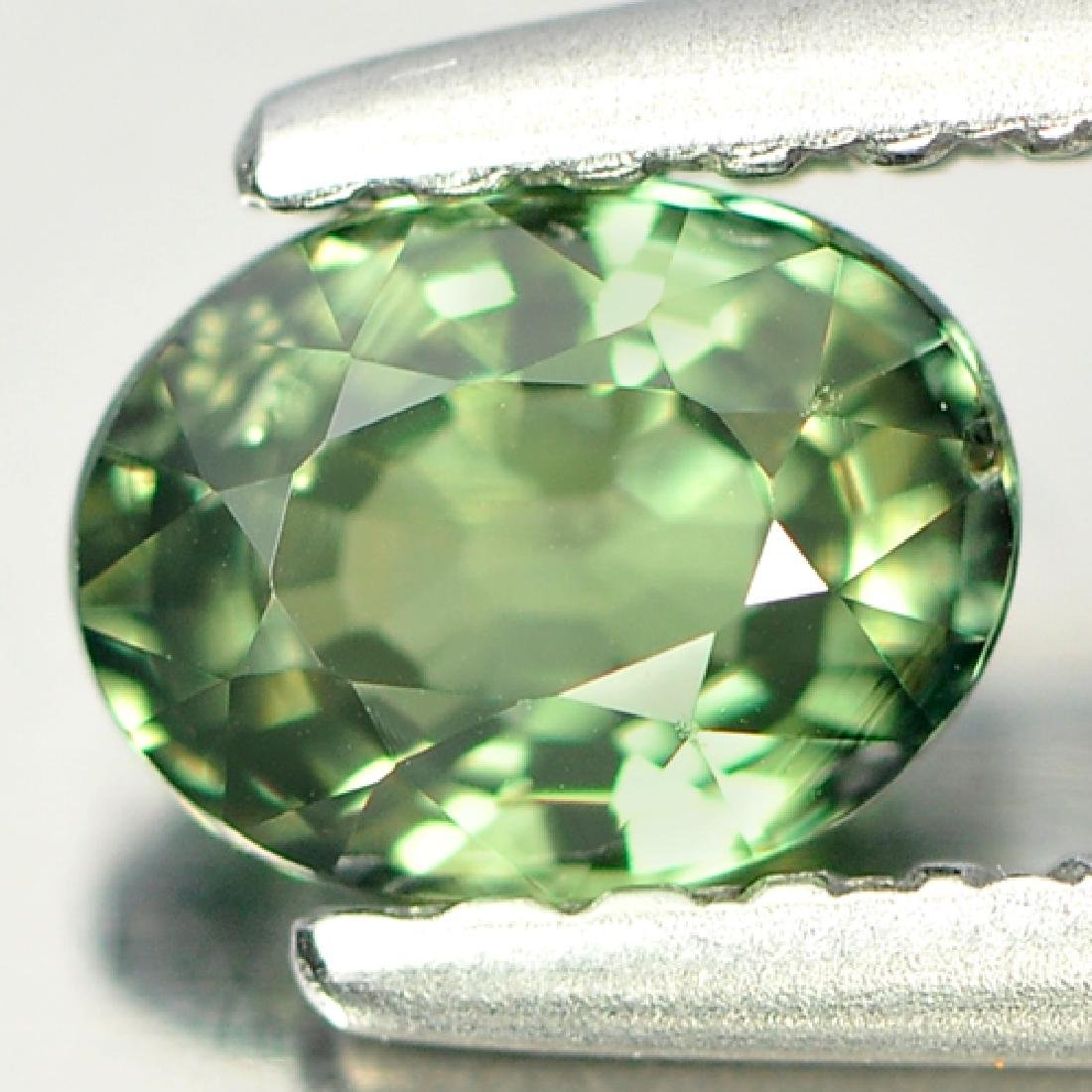 Unheated 0.59 Ct Bluish Green Sapphire Oval Shape