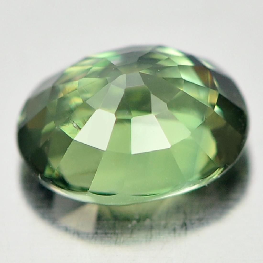 Unheated 0.59 Ct Bluish Green Sapphire Oval Shape - 3
