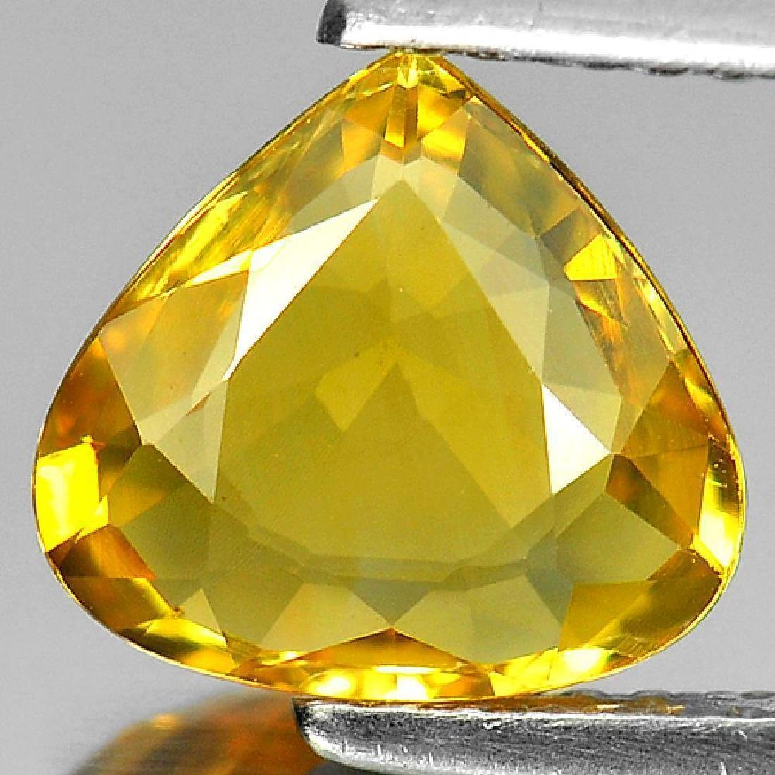 1.90 Ct Yellow Sapphire Pear Shape From Thailand