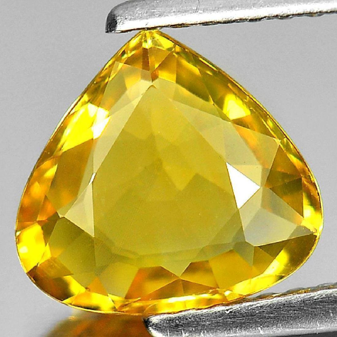1.90 Ct Yellow Sapphire Pear Shape From Thailand - 2