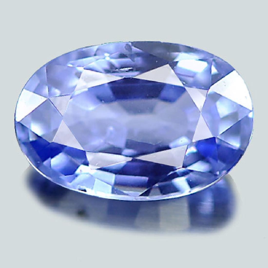 1.03 Ct. Natural Blue Ceylon Sapphire Oval Shape - 2
