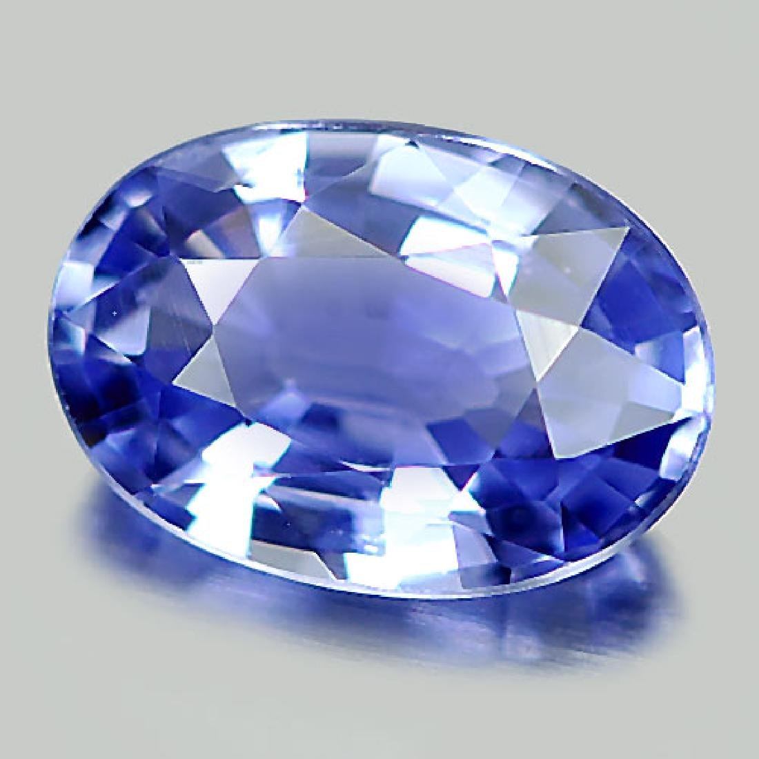 Delightful 1.06 Ct. Natural Blue Sapphire Oval Shape - 2