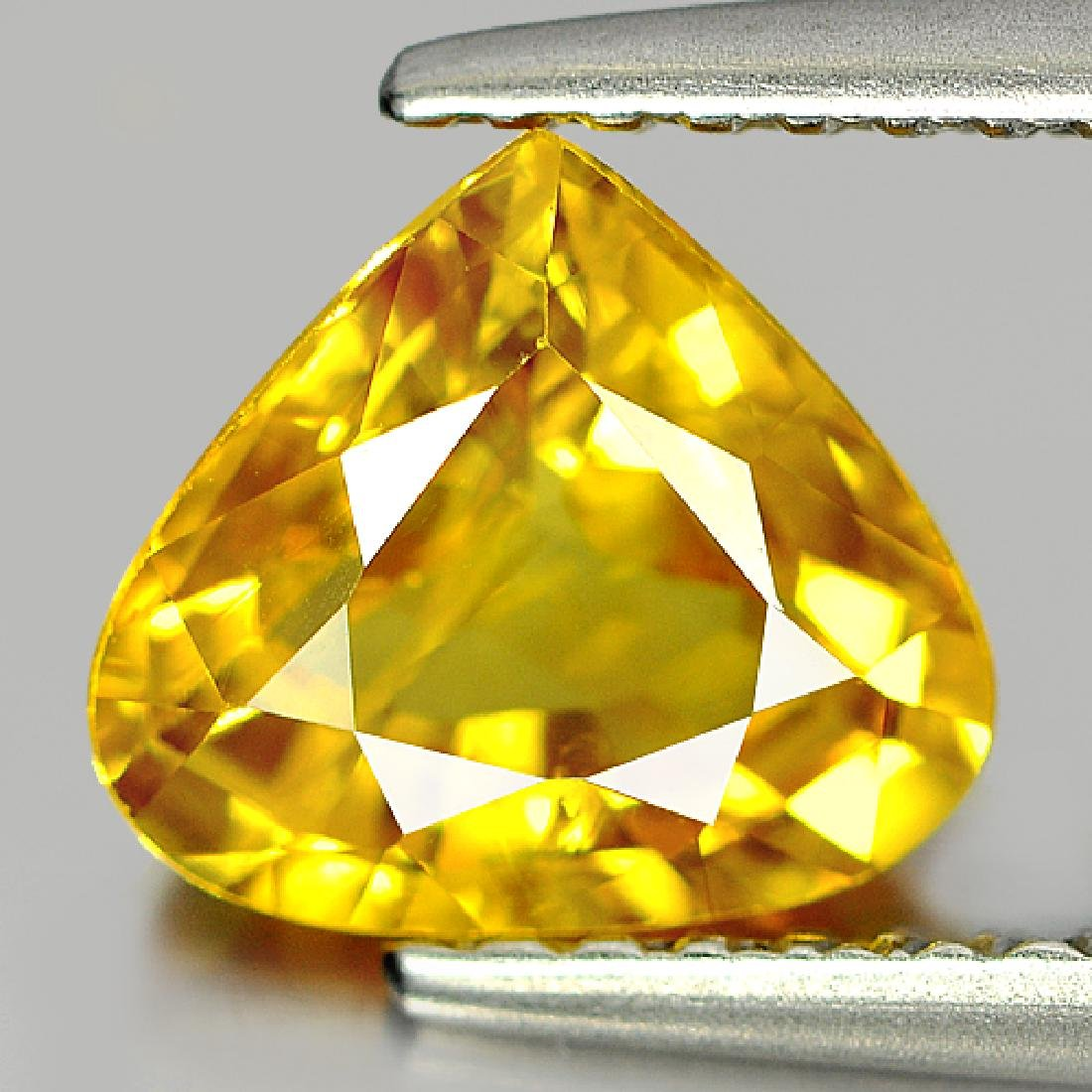 1.69 Ct Yellow Sapphire Pear Shape From Thailand