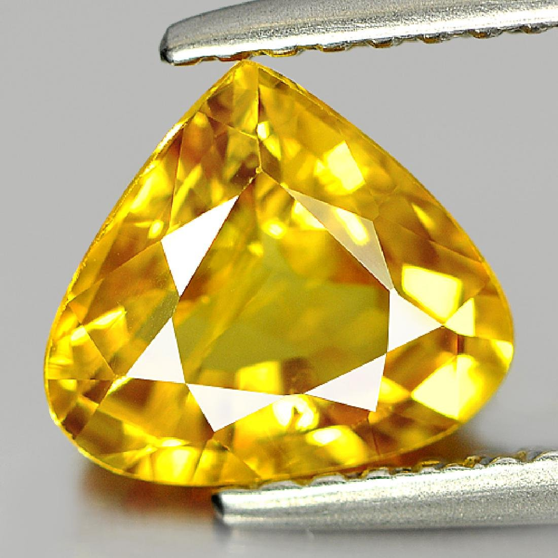 1.69 Ct Yellow Sapphire Pear Shape From Thailand - 2