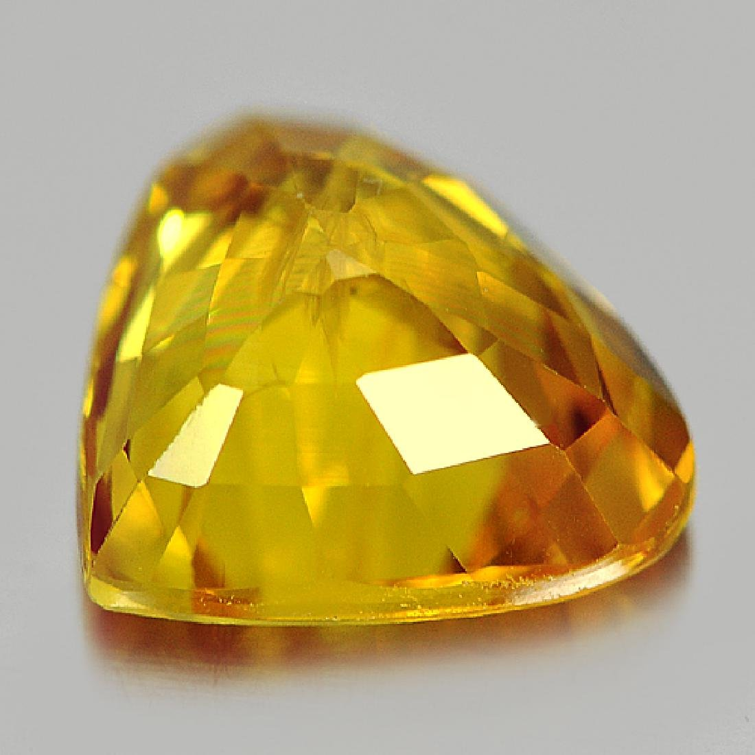 1.69 Ct Yellow Sapphire Pear Shape From Thailand - 3