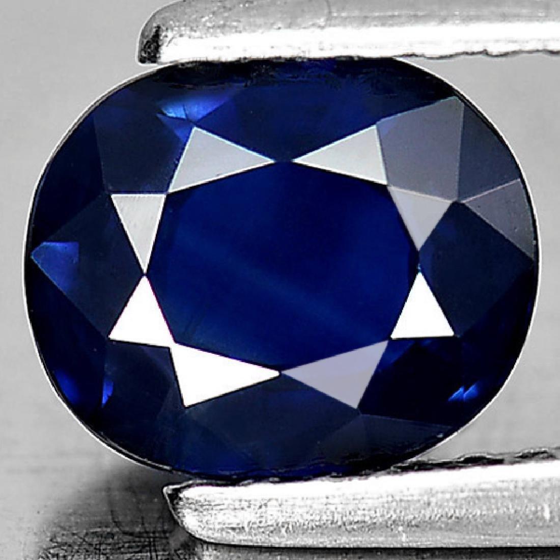 Good Gemstone 1.42 Ct. Oval Shape Natural Blue Sapphire