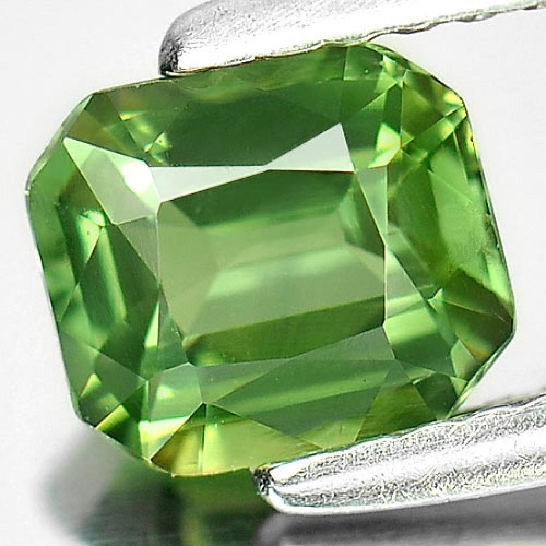 1.10 Ct. Clean Octagon Natural Green Sapphire - 2
