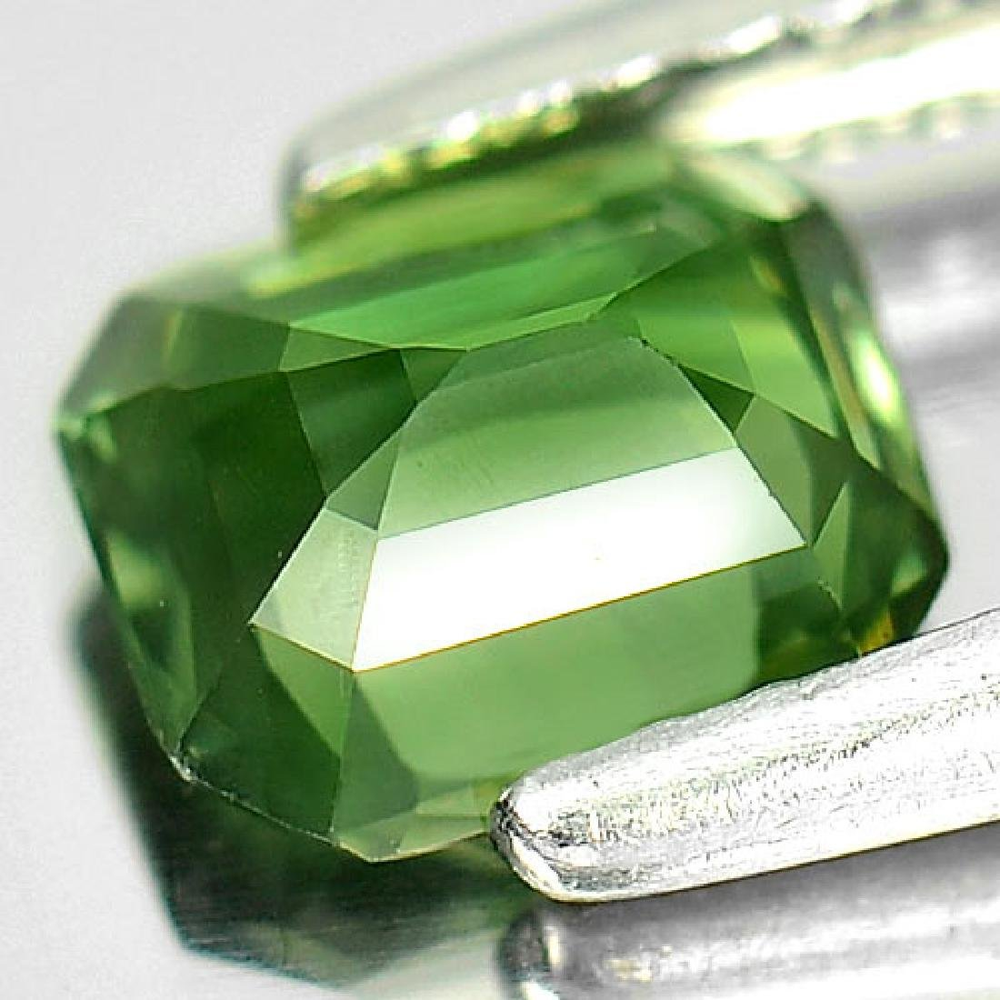1.10 Ct. Clean Octagon Natural Green Sapphire - 3