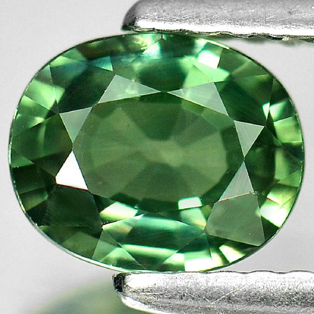 1.10 Ct. Oval Natural Green Sapphire Thailand