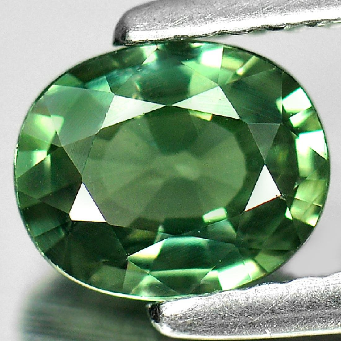 1.10 Ct. Oval Natural Green Sapphire Thailand - 2
