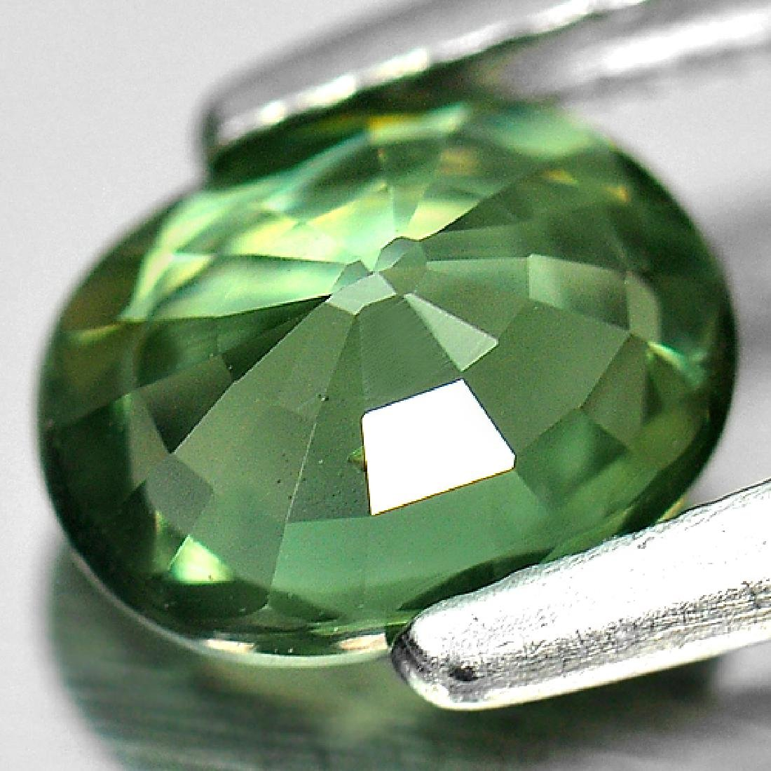 1.10 Ct. Oval Natural Green Sapphire Thailand - 3