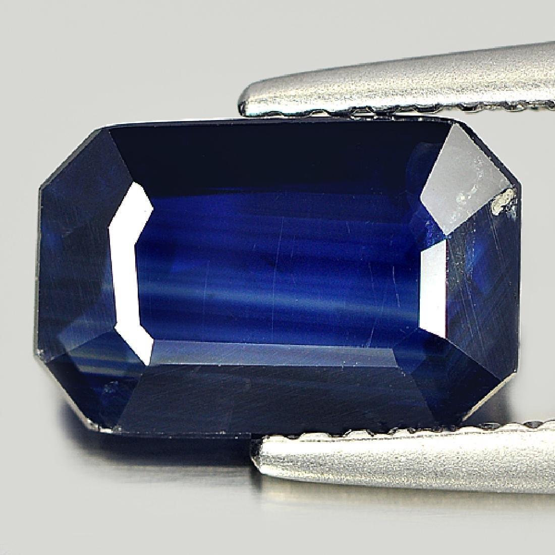 Ceritfied 1.92 Ct. Octagon Shape Natural Blue Sapphire