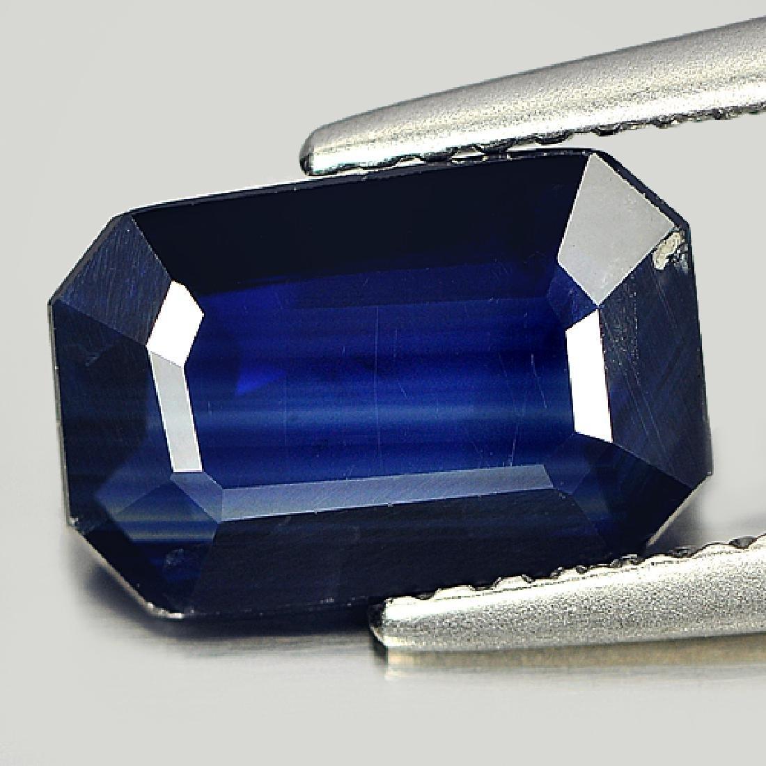 Ceritfied 1.92 Ct. Octagon Shape Natural Blue Sapphire - 2