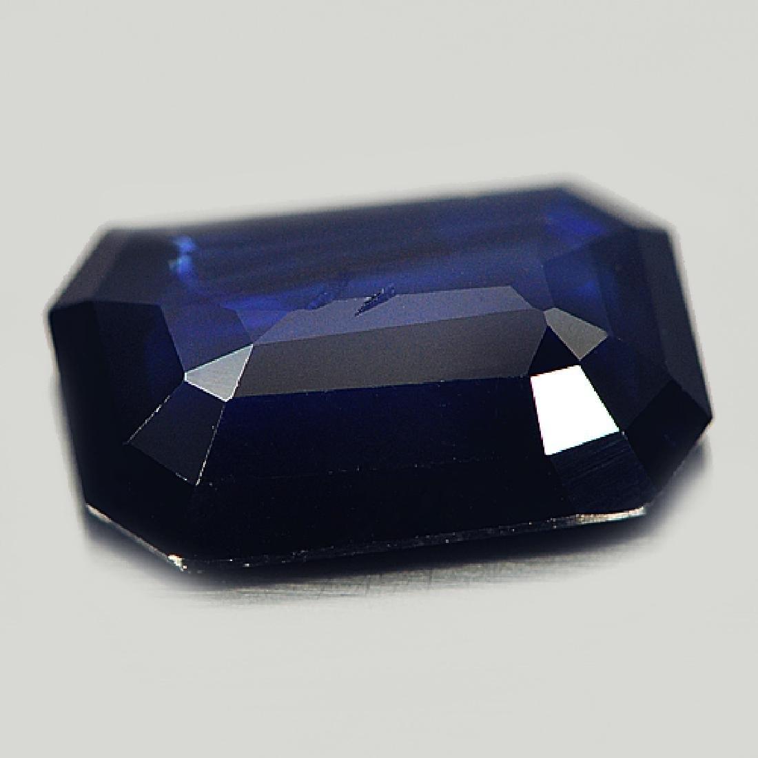 Ceritfied 1.92 Ct. Octagon Shape Natural Blue Sapphire - 3