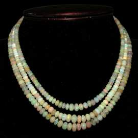 Natural Ethiopian Welo Opal Beads Necklace 18 Inch 3
