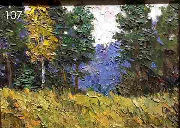 Autumn morning oil painting Pivtorak Sergey Nikolaevich